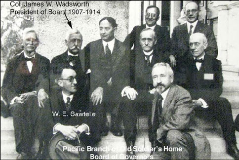 Board of Governors, Pacific Branch of Old Soldiers' Home