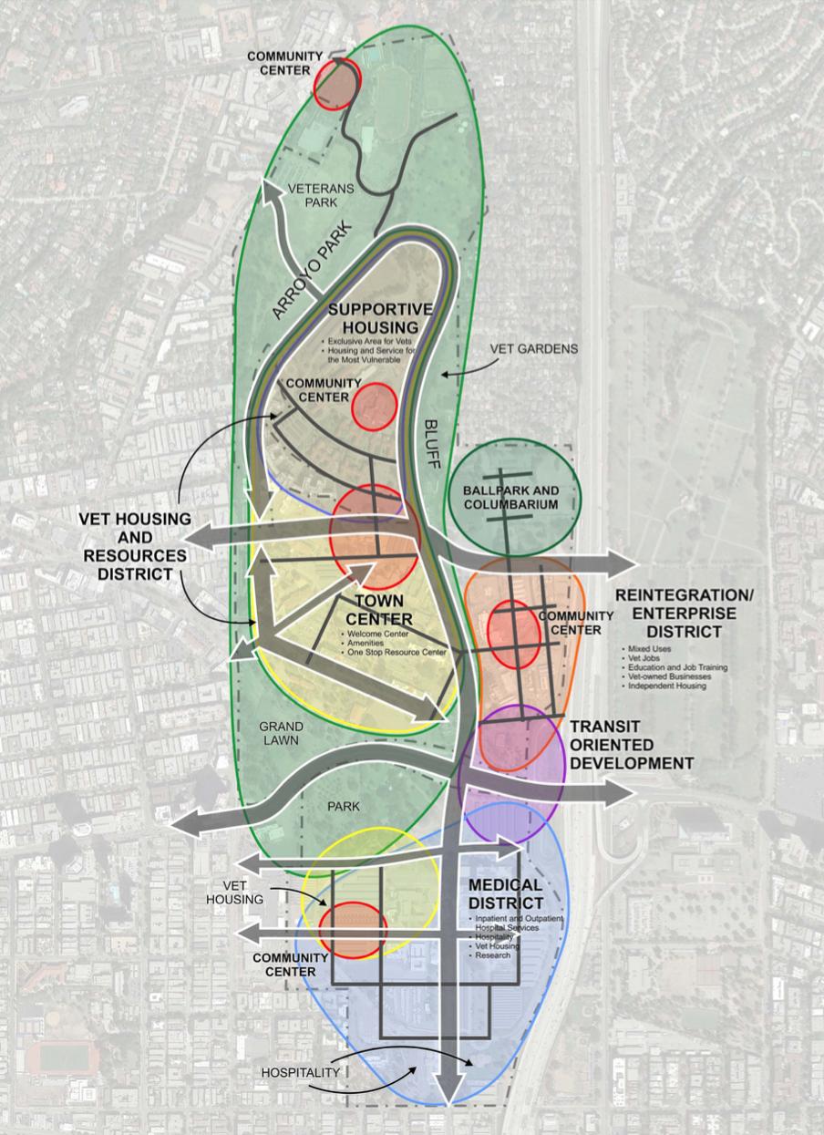 Master Plan  Fund - Los angeles va map